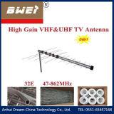 UHF VHF Outdoor Yagi Antenna 32 Elements