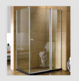 Square Corner New Two Sided Pivot Shower Screen Enclosure