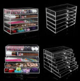 5 Tiers Transparent Acrylic Makeup Organizer for Cosmetic with Drawers
