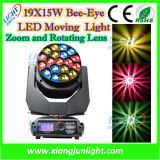 Bee Eye 19 X 15W LED Beam Wash Moving Head Light with Zoom RGBW 4 in 1 for Disco Lighting, DJ Lighting, KTV, Party, Studio