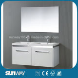 New Hot Double Sinks Sale Bathroom Cabinet with Mirror Cabinet (SW-1504)