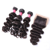 High Quality Natural Hair Unprocessed Brazilian Nature Wave Weft Hair Weft