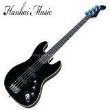 Hanhai Music / Black Electric Bass Guitar with 4 Strings (Jazz Bass BK)