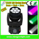 Mini Zoom LED Moving Head Light 7X12W for Disco DJ