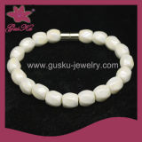 Simple White Tourmaline Beads Bracelet (2015 Tmb-205)
