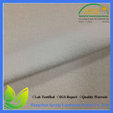 TPU Laminated Wholesale Light Yellow Stretch Terry Cloth Fabric