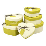 Hearted Shape Special Textured Paper Gift Packing Boxes