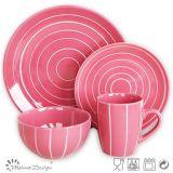 Colorful 16PCS Ceramic Stoneware Dinner Set