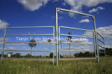 Steel Cattle Panel Oval Rail Personel Access Panel/Wholesale Galvanized Cattle Panel/Round Pipe or Square Tube Cattle Corral Panels