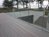 Frameless Glass Balustrade with Aluminum U Channel