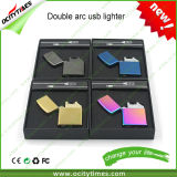 Cigarette Electric Metal USB Rechargeable Double Arc Lighter Gift