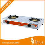 Stainless Steel Table Top Double Burner Gas Cooker in Guangzhou Jp-Gc206