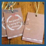 Pack of Six Brown Paper Christmas Gift Tags