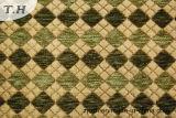 Green Gemotric Chenille Furniture Fabric (FTH31151)