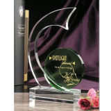 Sickle Design Crystal Trophy Award