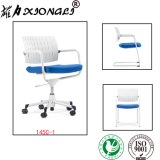 145c1 Modern Leisure Plastic Svivel Arm Office Chair with Seat Cushion