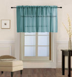 Solid Color Sheer Curtain Valance