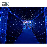 LED Star Curtain Lights Fabric Curtain Kits for Event Wedding