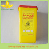Plastic Yellow Medical Sharps Container
