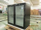 Hot Selling Double Glass Door Back Bar Cooler Beverage Cooler