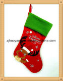 Christmas Gift Christmas Stocking Santa Elk with Fiber Optic