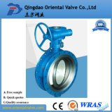 Double Eccentric Flange Gear Actuated Butterfly Valve