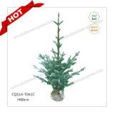 H90-125cm Plastic Artificial Glass Craft Christmas Tree Decoration