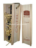 Classical Design Exquisite Wooden Wine Box Customized with Fsliding Lid