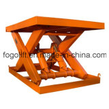 Fixed Hydraulic Used Goods Lift Guide Rail Warehouse Lift for Sale