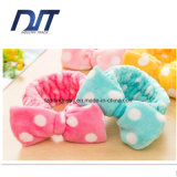 Cute Wave Washing Face Big Coral Velvet Bow Movement Headband