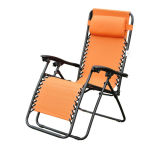 New Zero Gravity Outdoor Recliner Lounge Chair Garden Pool Orange (HD0855)