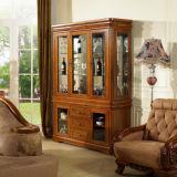 Antique Wine Cabinet with Glass Door