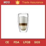 Double Wall Heat Resistant Hurricane Wine Glass/Coffee Glass