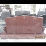 Ruby Red Granite Double Upright Monument