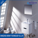Simple Wall Mounted PVC White Bathroom Vanity