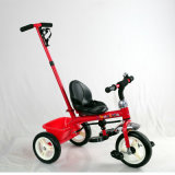 Steel Frame Material and Plastic Seat Kids Tricycle with Push Handle