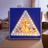 Solar Pedestrian LED Flashing Traffic Signs