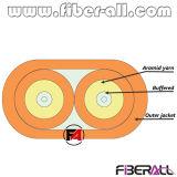 Flat Indoor Optical Fiber Cable 2 Cores 2.0mm/2.4mm/3.0mm Simplex Breakout
