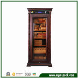 Freestanding Refrigerated Wooden Cigar Cabinet