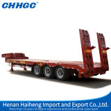 China Manufacturer Low Bed Semi Trailer Staight Beam and with Cover on The Tire