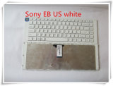 Wholesale Computer Keyboard/Wired Keyboard for Sony Sve14 White Us Keyboard