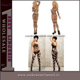 Transparent Zebra Print Lace Sock Bodystocking Ladies Body Stocking (79590)