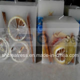 Embedded Dry Flower Lemon Slice Art Candles