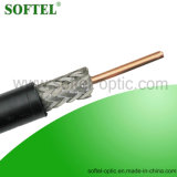 Shield and Braiding Rg11 Coaxial Cable with Optional Messenger