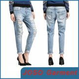 Women Light Wash Skinny Distressed Jeans (JC1140)