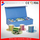 Coffee Cups & Saucers with Printing in Gift Box