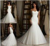 2015 Strapless Mermaid Bridal Wedding Dresses (ALSW008)