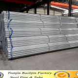 Made in China Shelf Pre Galvanized Round Section Steel Pipe