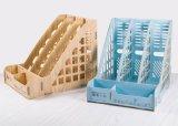 3 Columns Wooden DIY Office Stationery Organizer