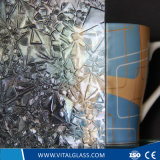 3-6mm Rose Pattern Glass with CE & ISO9001
